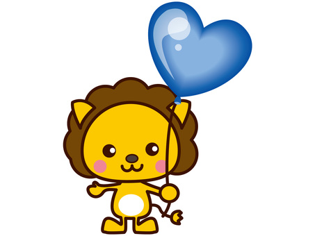 Lion and balloon