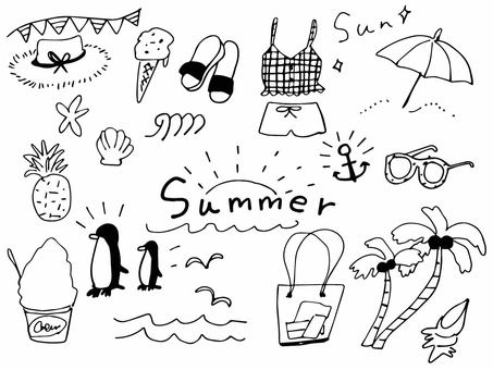Summer accessories B & W
