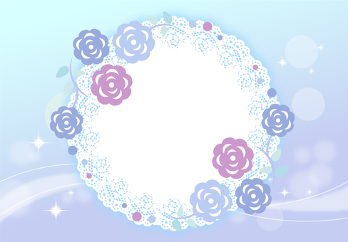 Flower pattern frame rose