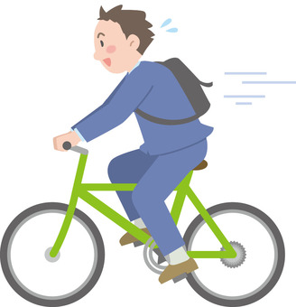 男子自行車上班族