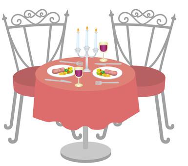 晚餐設置紅色