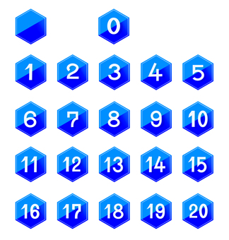 Number icon set