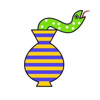 Snake vase and snake