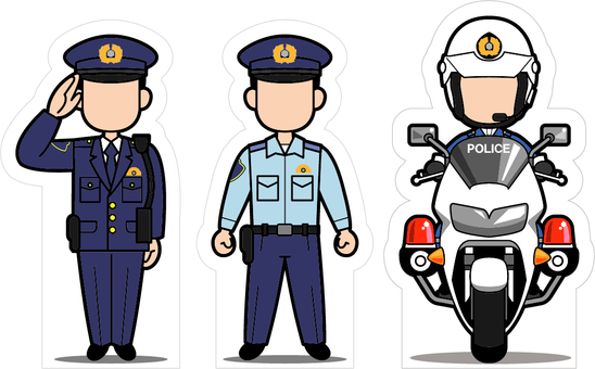 Signed face / police officer edition (criteria: 140 cm)