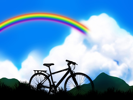 Rainbow and Clouds and Bicycles