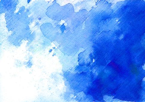 수채화 수채화 블루 블루