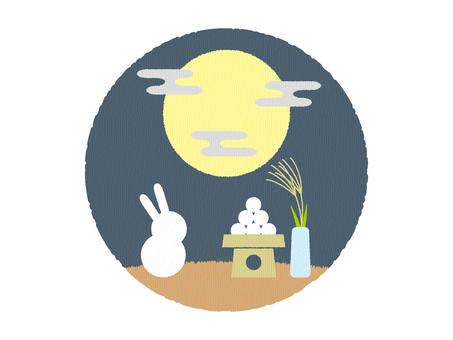 お月見_秋イラスト