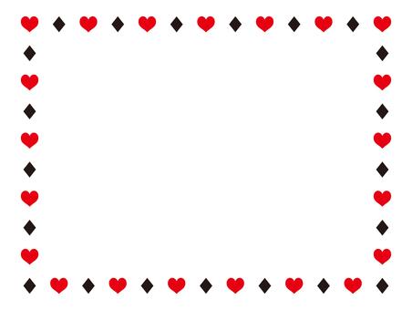 Heart diamond frame