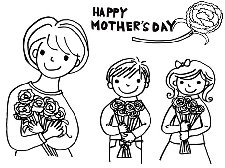 Mother's Day monochrome