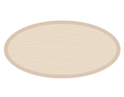 Wood grain plate