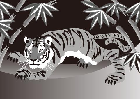 Animals _ Tiger 6 _ monochrome
