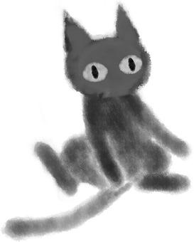 Black cat (stubborn)