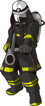 Fireman (impulse gun / hand-drawn)
