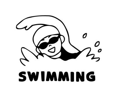 Woman to swim (simple)