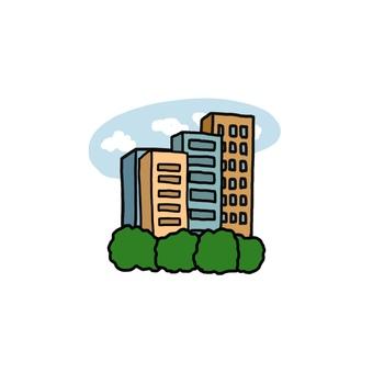 Illustration of a building
