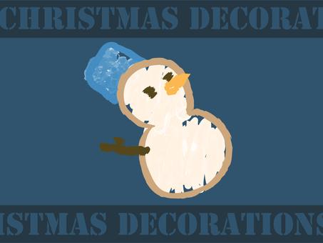 【クリスマス】雪だるま