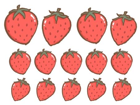 イチゴのご褒美シール