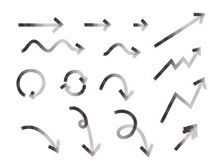 Hand-drawn wind arrow set (scroll pen)