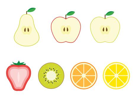 水果的截面圖