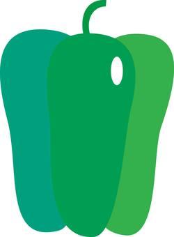 Green pepper, paprika