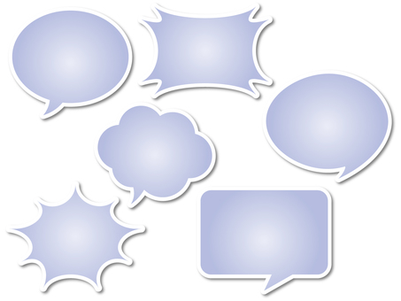 Various speech bubbles 5