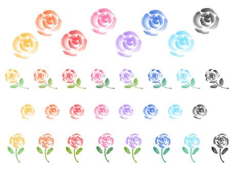 """""""Handwritten material"""" Roses Various"""