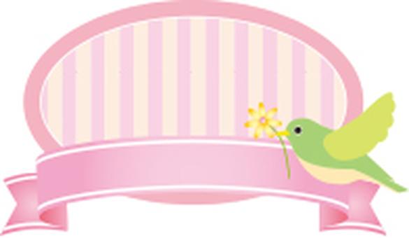 Bird ribbon label
