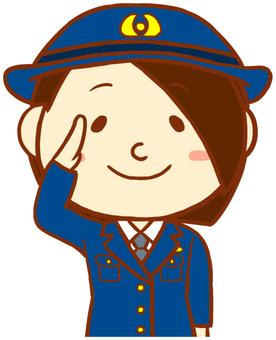 Women police (salute)