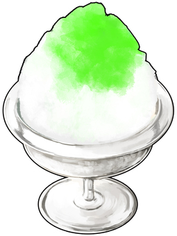 Melon flavored ice with outline