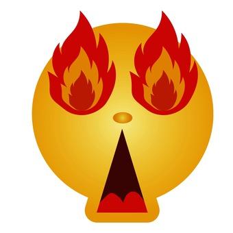 Burning emoticon