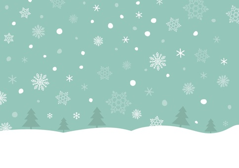Christmas tree and snow background image 2