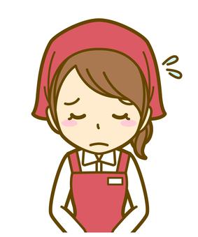 Woman (salesman): B_ bow 02BS