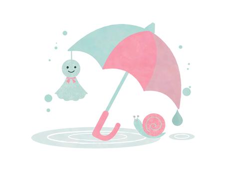 Rainy season illustration 06