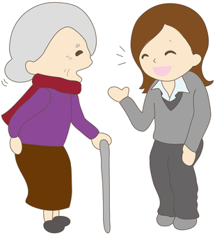 Talk with someone with a handicap 1