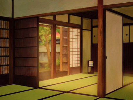 日本背景室1晚上