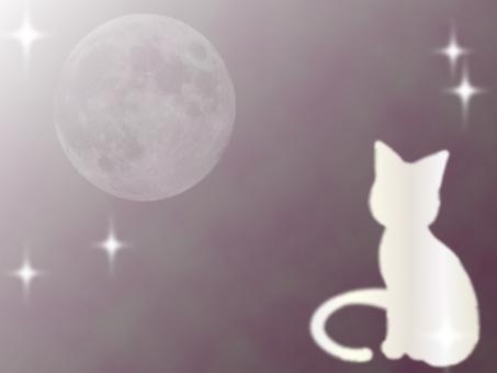 Cat silhouette frame