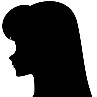 Woman silhouette side profile