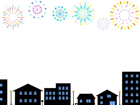 Fireworks Cityscape Frame 1