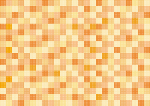 Wallpaper - Patchwork - Orange