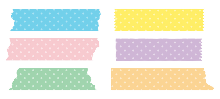 Masking tape dot small