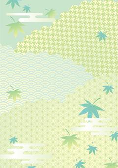 新緑の和風フレーム