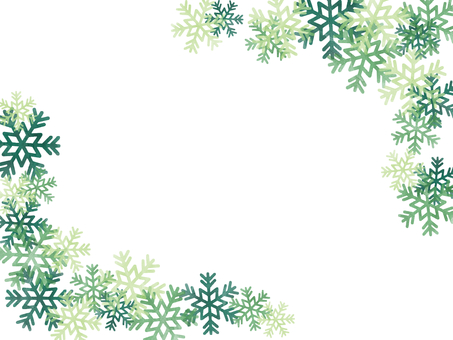 Frame watercolor snowflake
