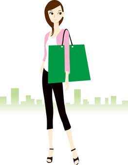 Female shopping person