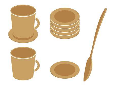 咖啡杯·勺子·杯墊08