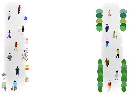 걷는 사람들의 풍경