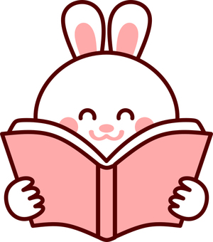 Reading book reading rabbit