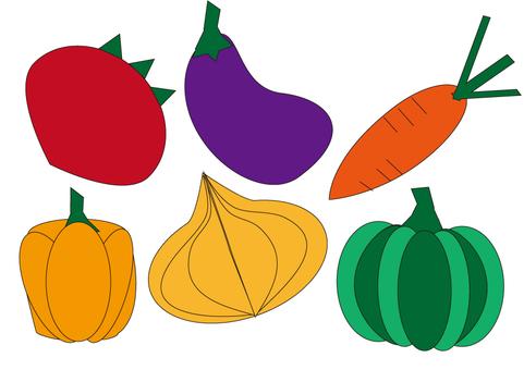 6 vegetables