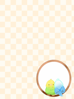 잉꼬 2 마리 (노란색)