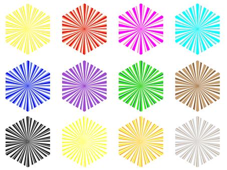 輻射六角形12模式