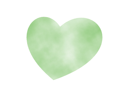 Green heart (watercolor hand drawn style)